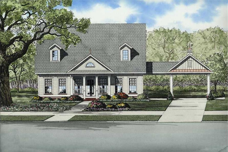Main image for house plan # 8219