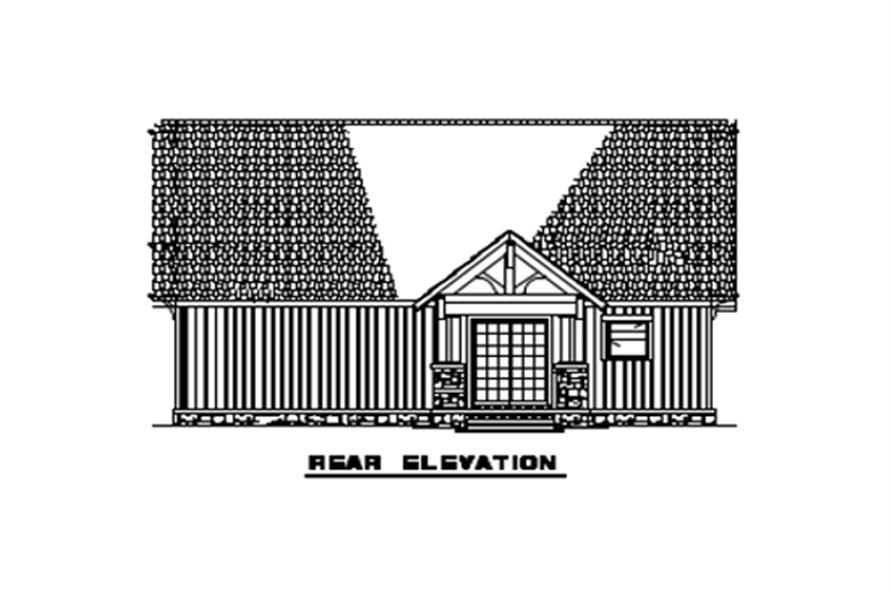 153-1723: Home Plan Rear Elevation