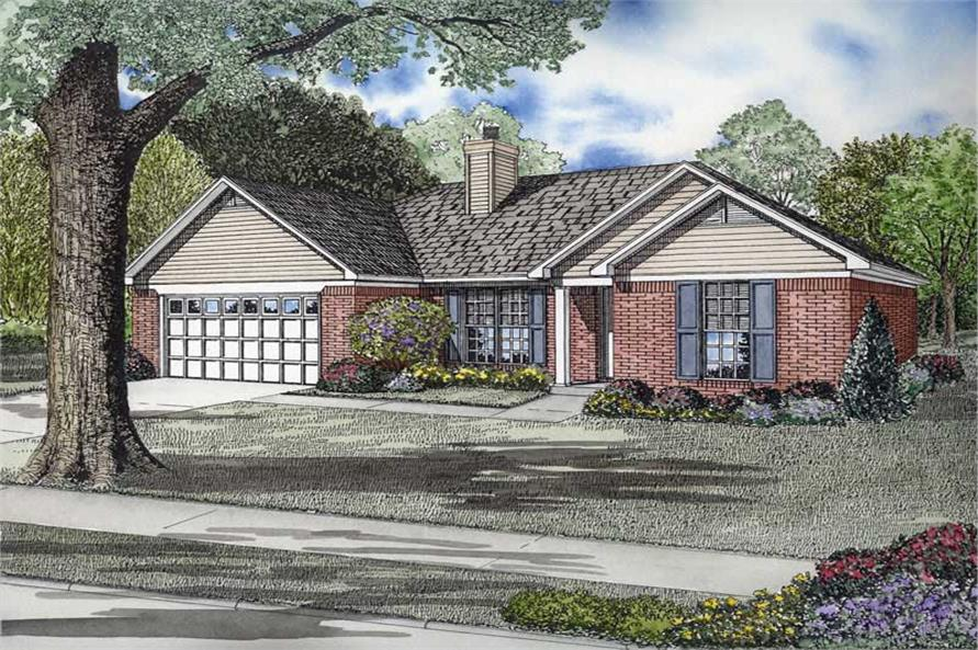 Main image for house plan # 8473