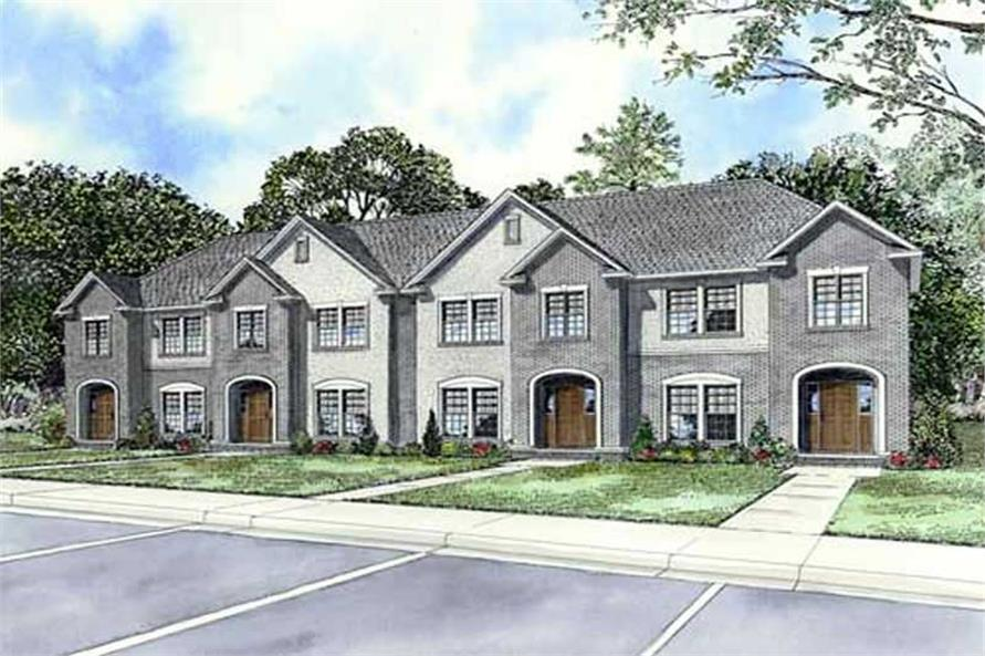 This image shows the Multi - Unit Style for this set of house plans.