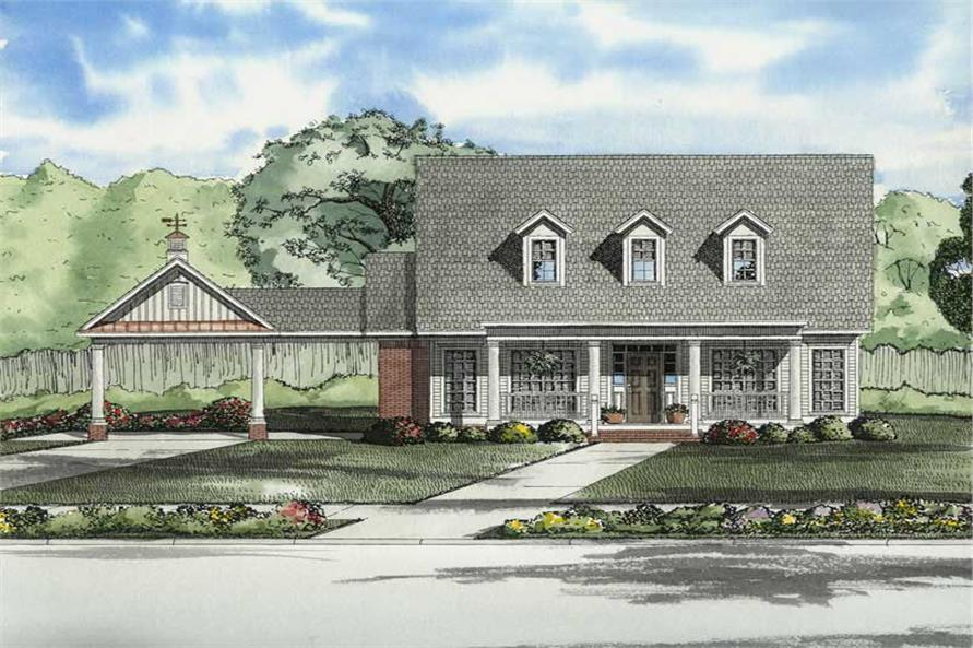 Main image for house plan # 8209