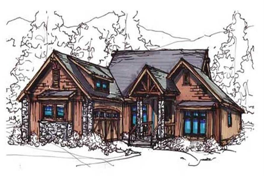 153-1755: Home Plan Rendering-Front Door