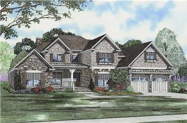4-Bedroom, 2952 Sq Ft Craftsman House Plan - 153-1757 - Front Exterior