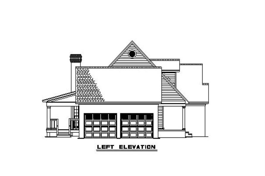 153-1779 house plan left elevation