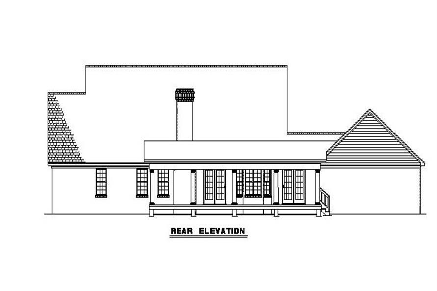 153-1779 house plan rear elevation