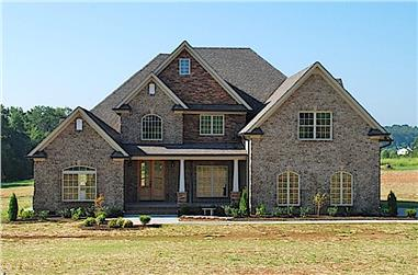 4-Bedroom, 2481 Sq Ft Transitional Craftsman House - #153-1786 - Front Exterior