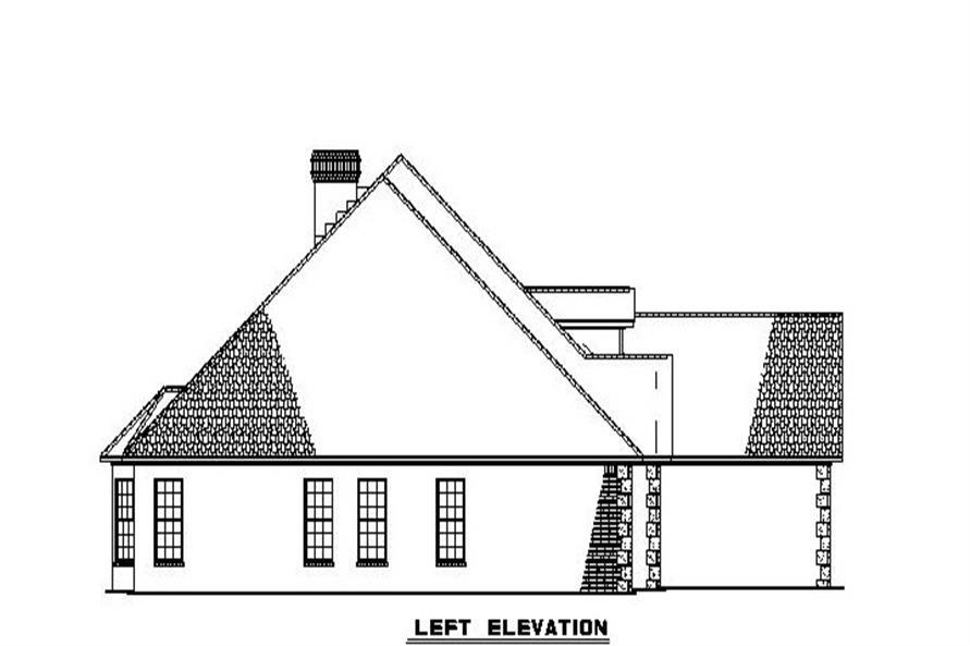 153-1806 house plan left elevation