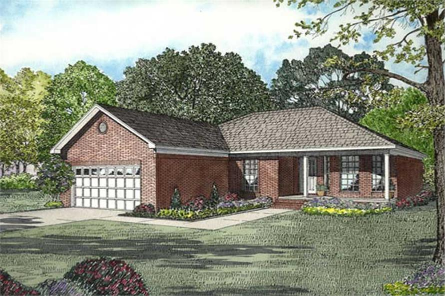 Main image for house plan # 9917