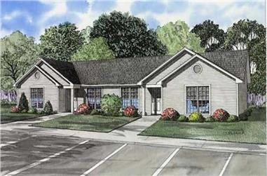 3-Bedroom, 930 Sq Ft Country Home Plan - 153-1838 - Main Exterior