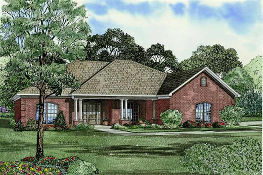 Main image for house plan # 9845