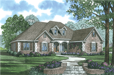 5-Bedroom, 2875 Sq Ft Home Plan with In-Law Suite - 153-1868 - Main Exterior