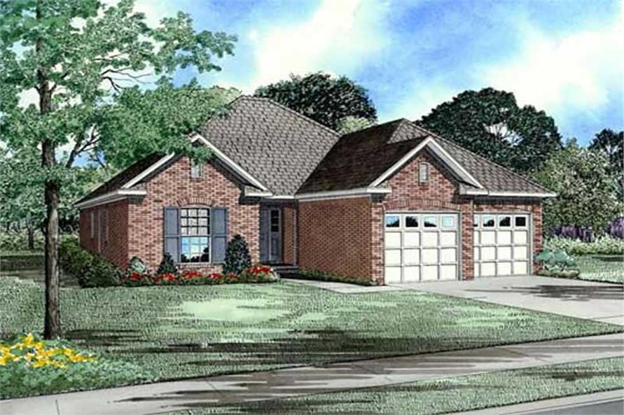 Main image for house plan # 9838