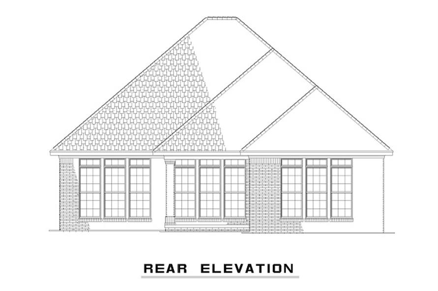 153-1873 house plan rear elevation