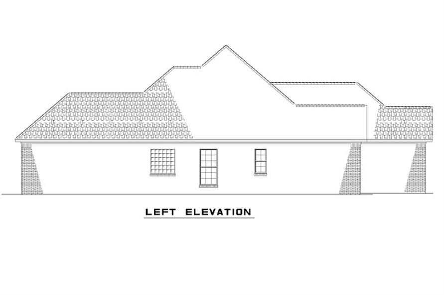 153-1873 house plan left elevation