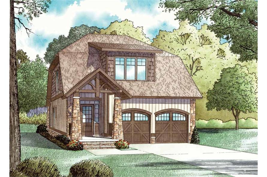 Front elevation of Country home (ThePlanCollection: House Plan #153-1898)