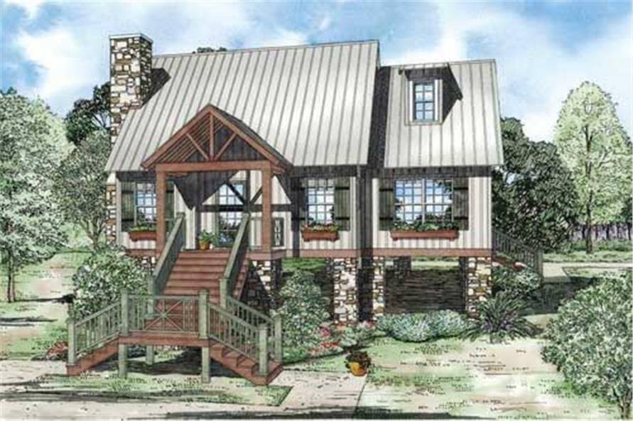 This is a colored rendering of Vacation Homeplans NDG-1224.
