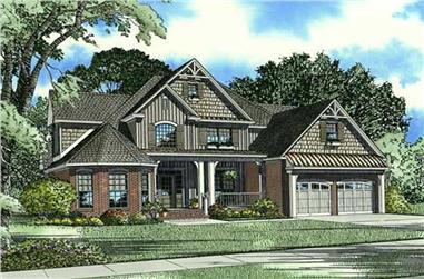 4-Bedroom, 2815 Sq Ft Craftsman House Plan - 153-1912 - Front Exterior