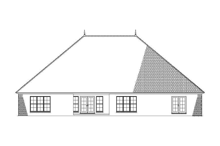 153-1938: Home Plan Rear Elevation