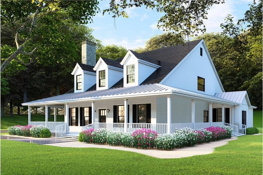 Home Plan Rendering of this 4-Bedroom,2180 Sq Ft Plan -2180