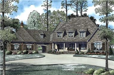 6-Bedroom, 6004 Sq Ft Luxury Home - Plan #153-1945 - Main Exterior