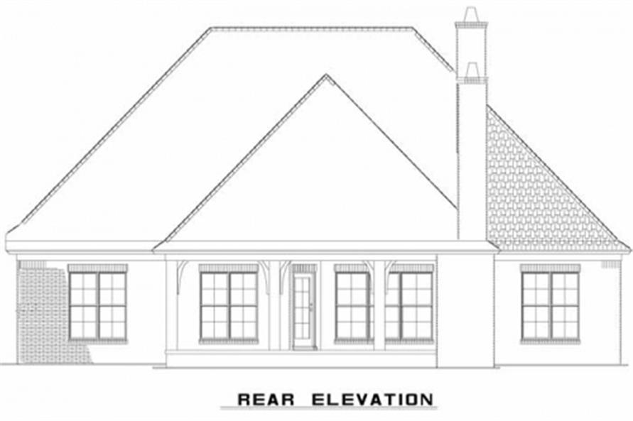 153-1946: Home Plan Rear Elevation