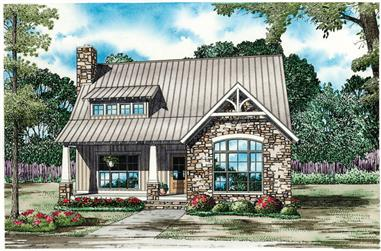 3-Bedroom, 1874 Sq Ft Cottage Home - Plan #153-1952 - Main Exterior
