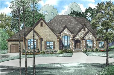 3-Bedroom, 4076 Sq Ft Luxury House Plan - 153-1982 - Front Exterior