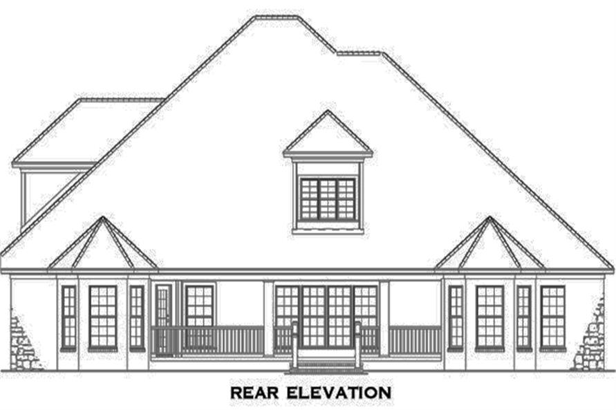 153-1990: Home Plan Rear Elevation