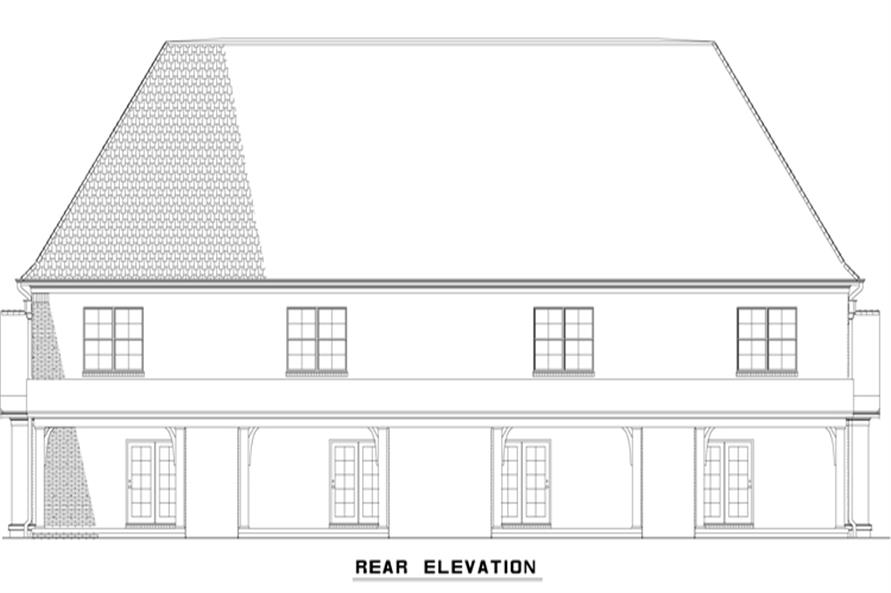153-1997: Home Plan Rear Elevation