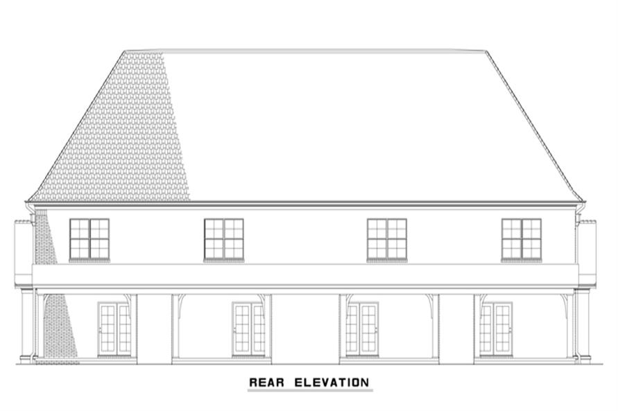153-2000: Home Plan Rear Elevation