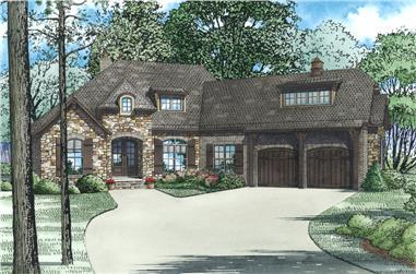 4-Bedroom, 2527 Sq Ft Craftsman Home Plan - 153-2001 - Main Exterior