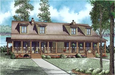 3-Bedroom, 1451 Sq Ft Multi-Unit House Plan - 153-2017 - Front Exterior