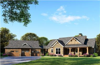 4-Bedroom, 3734 Sq Ft Country House Plan - 153-2053 - Front Exterior