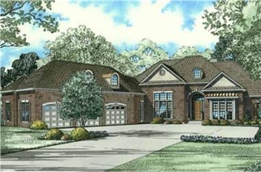 4-Bedroom, 4300 Sq Ft Luxury Home Plan - 153-2063 - Main Exterior