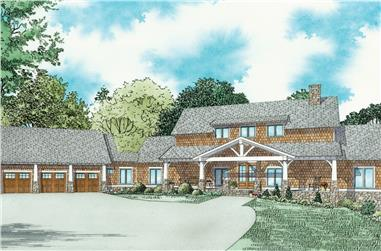 3-Bedroom, 3417 Sq Ft Craftsman House - Plan #153-2080 - Front Exterior