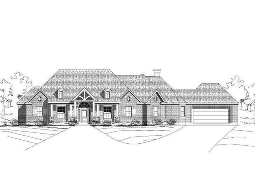 Main image for house plan # 16023