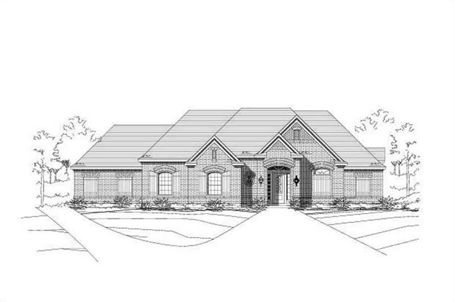 Main image for house plan # 16039