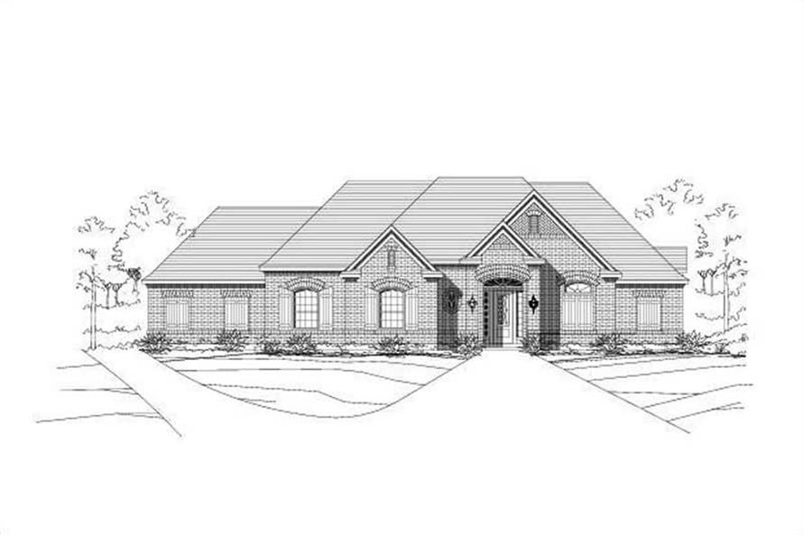 Main image for house plan # 15987