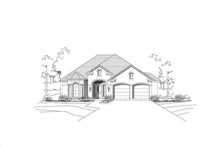 Main image for house plan # 16272