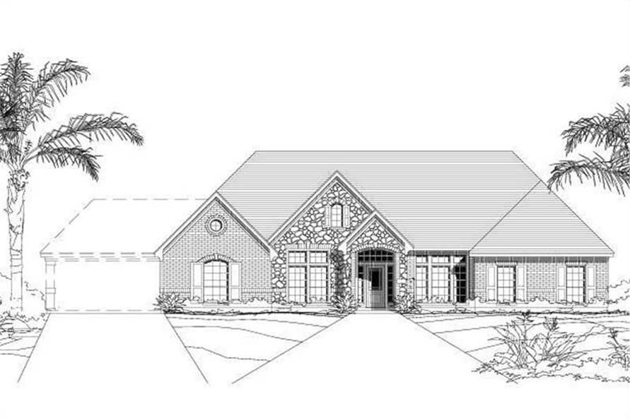 Main image for house plan # 16454
