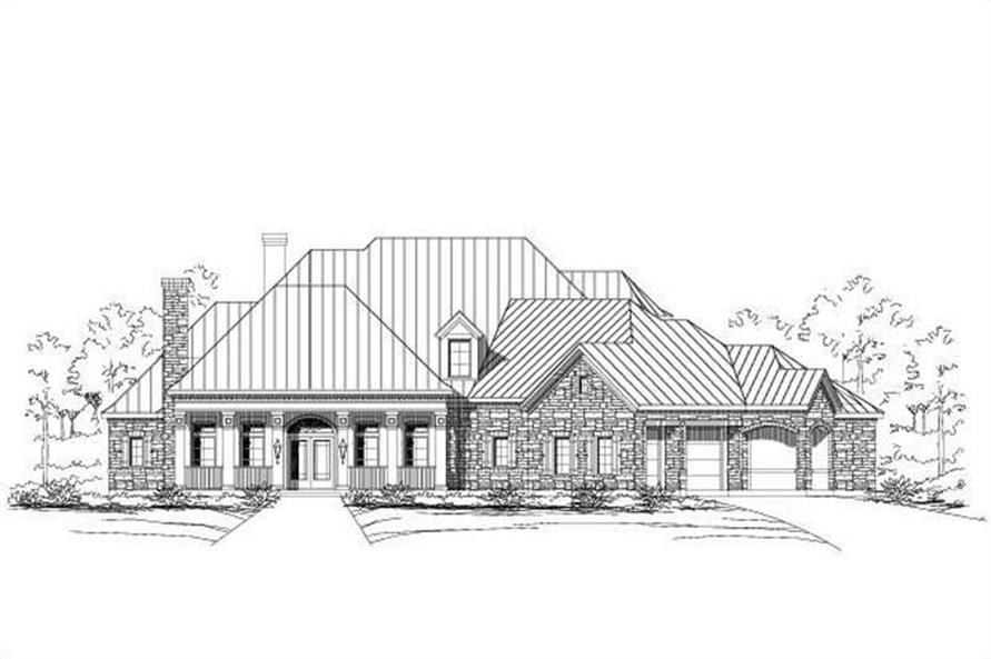 Main image for house plan # 16500