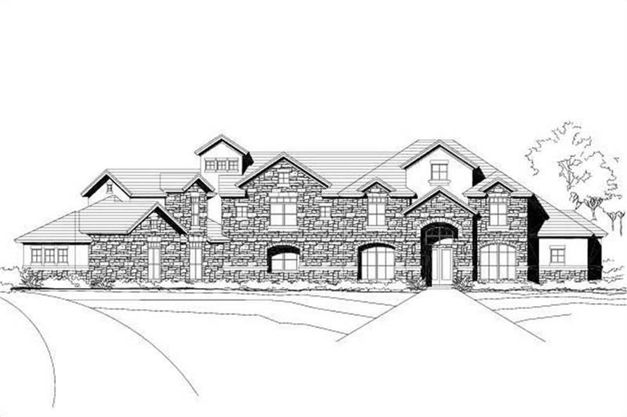 Main image for luxury house plan # 19100