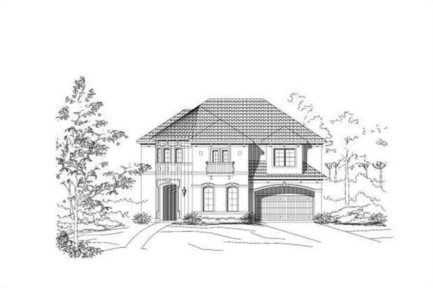 Main image for house plan # 19069