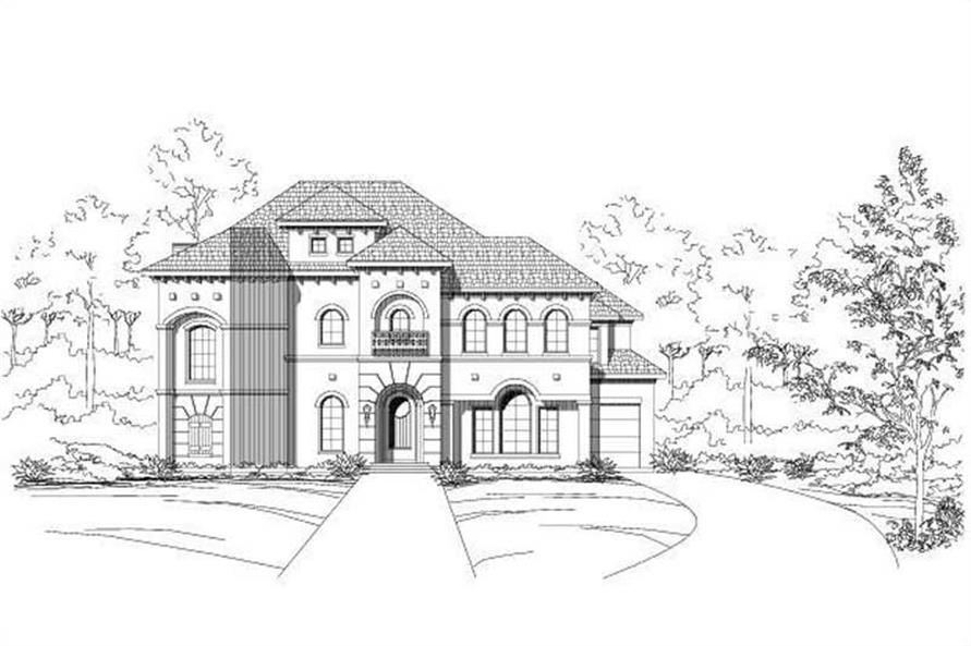 Main image for luxury house plan # 19075