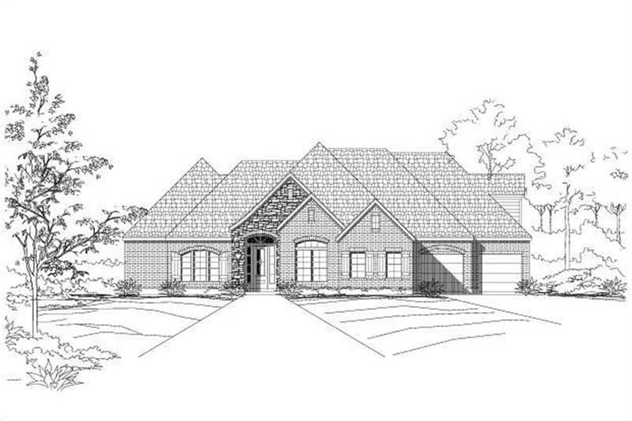 Main image for house plan # 19007