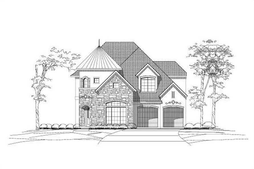 Main image for house plan # 19017