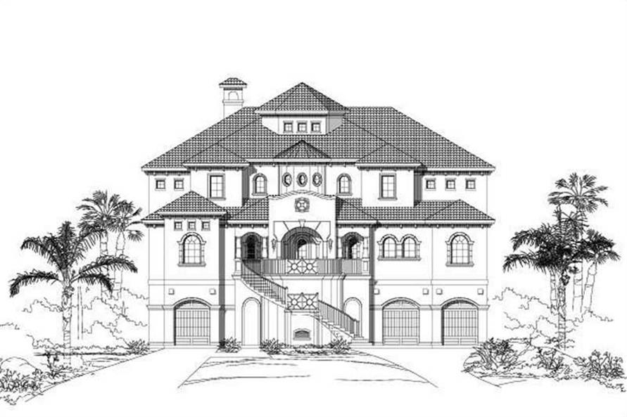 Main image for luxury house plan # 19037