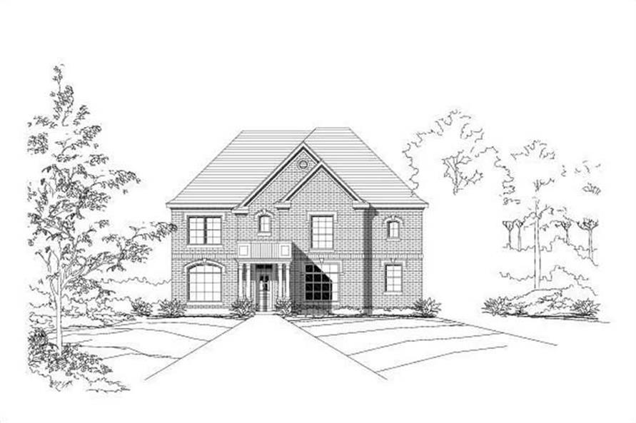 Main image for house plan # 19003