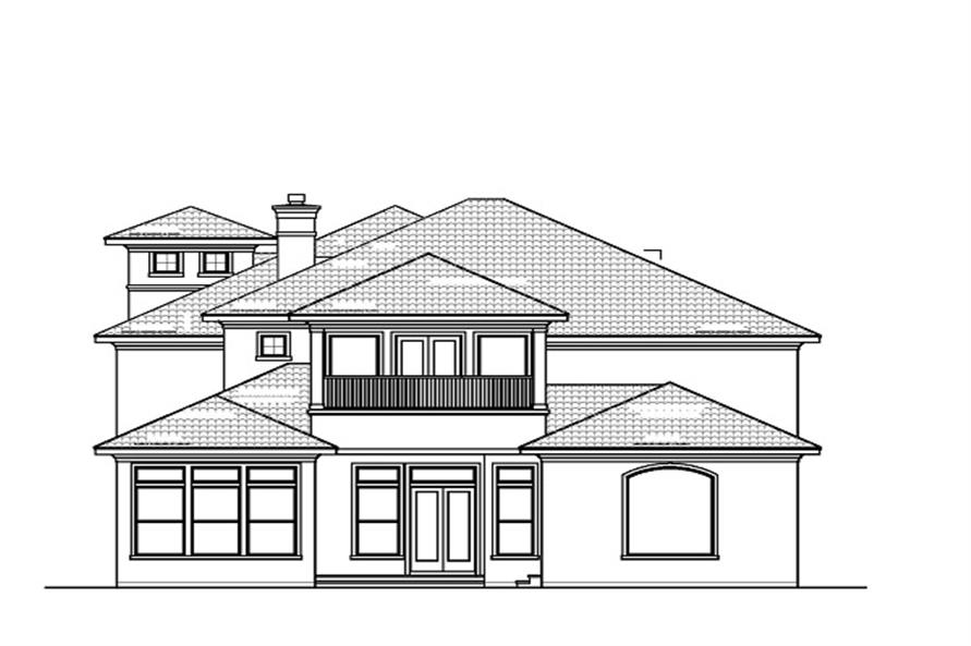 156-1620 house plan rear elevations