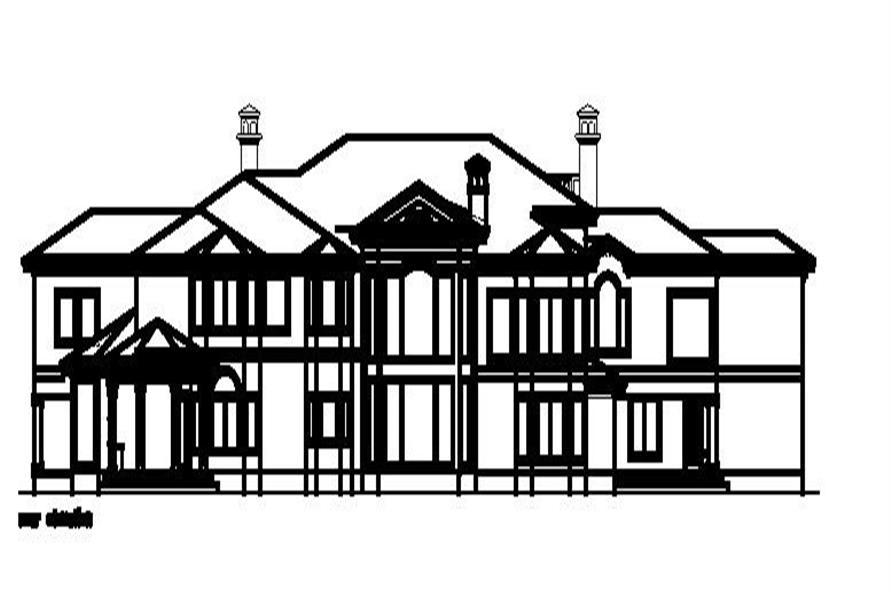 156-1686 house plan rear